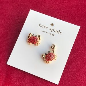 Kate Spade cute Shore thing crab earrings